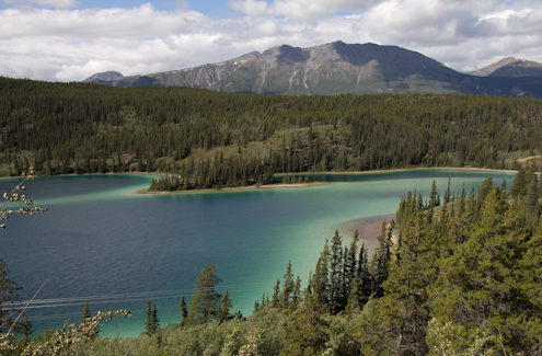 Emerald Lake next to Carcross