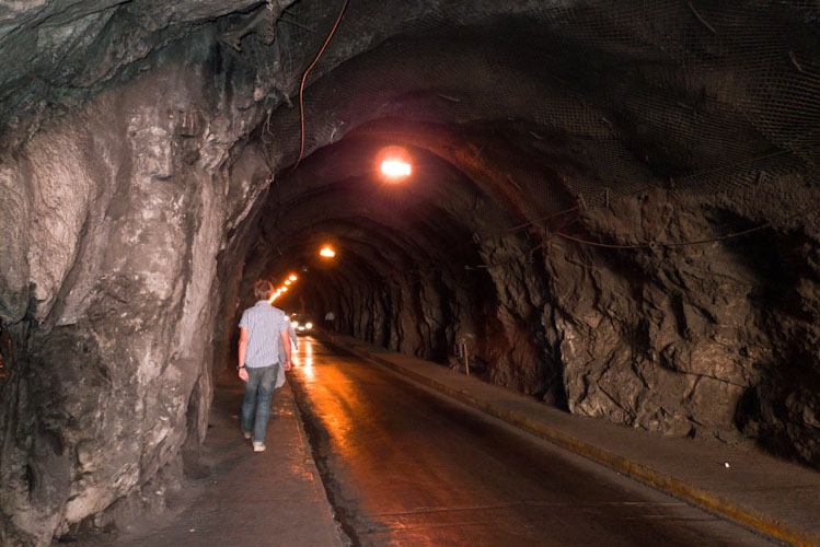 One of the tunnels in Guanajuato