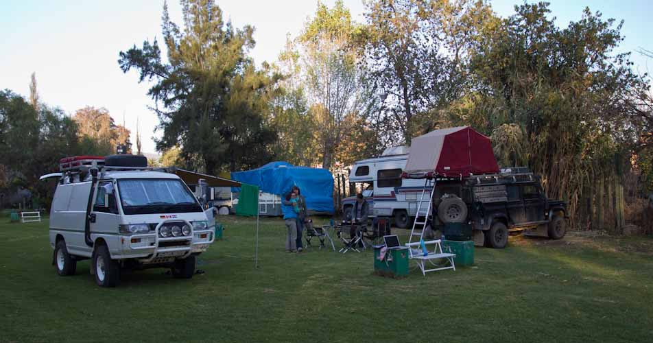 Campsite in Teotihuacan