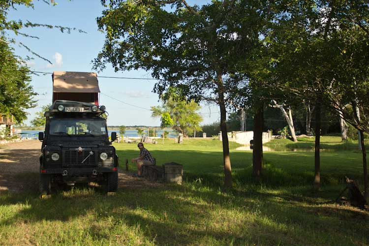 Our Campsite at the Crooked Tree Lodge