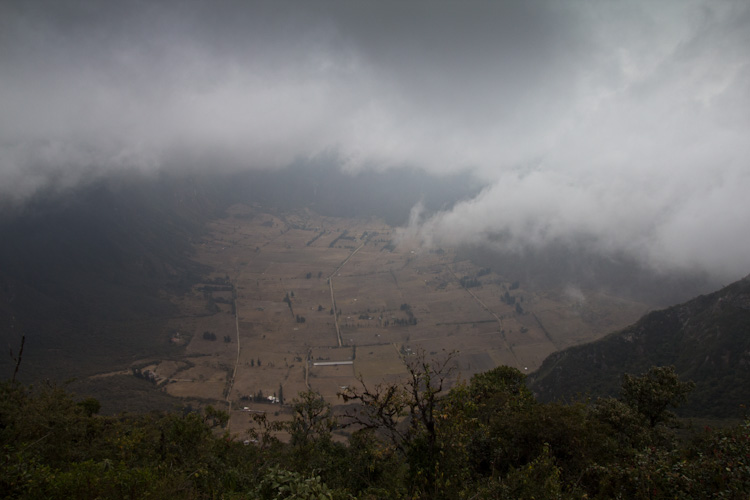 "Ecuador: Pululahua Crater - really bad view from the ""top"""