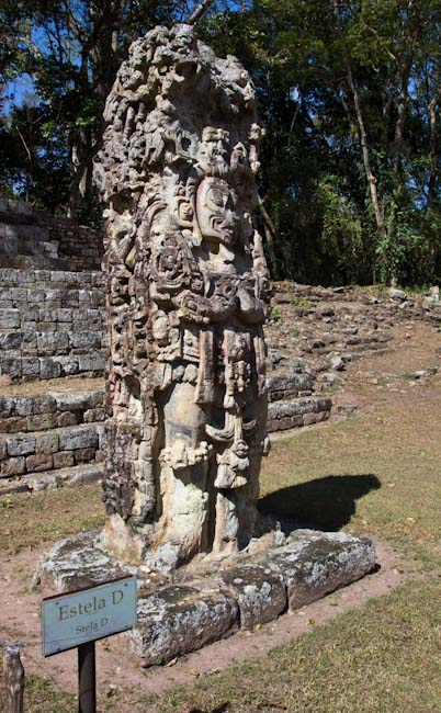 One of the amazing Stelas in Copan Ruinas