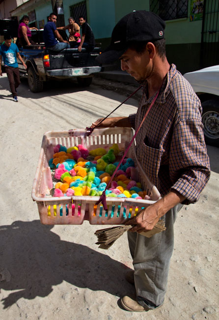 Gracias: Selling coloured chicken ...