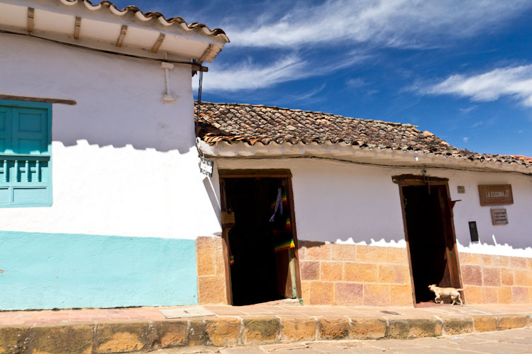 Colombia: Central Highlands - Barrichara: typical houses