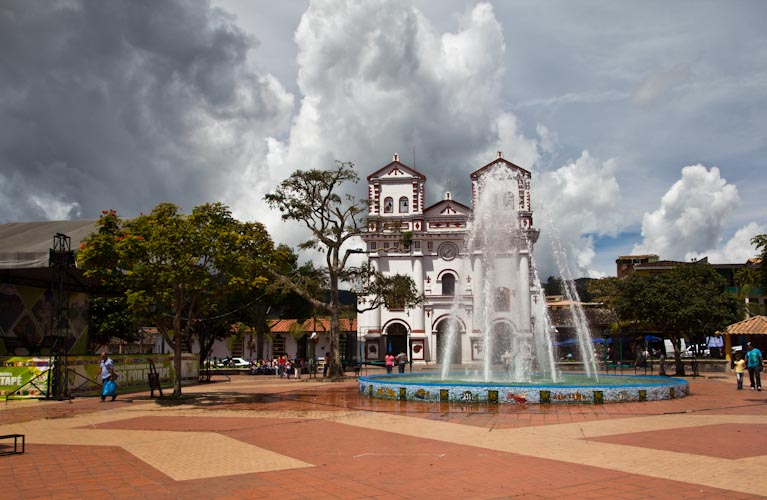 Colombia: Guatape - Plaza and Church