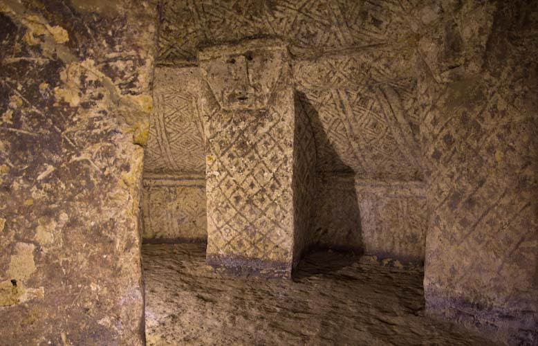 Colombia: Southern Region -Tierradentro: Tomb Painting