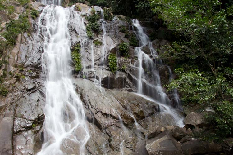 Colombia: nice waterfall close to Rio Claro