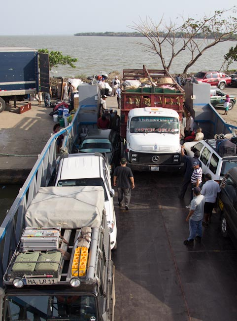 Nicaragua: Ometepe; ferry trip to the island