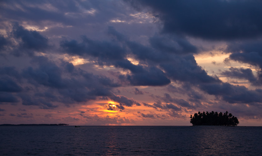 Panama: San Blas - Sunset