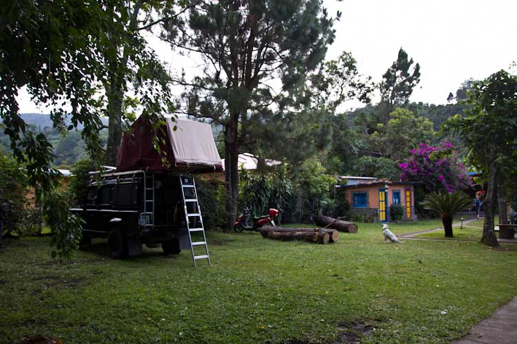 Panama: central Highlands - Bouquete: Campsite