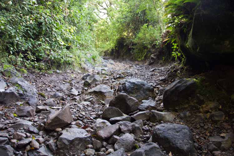 Panama: central mountains - Volcano Baru: bad roads