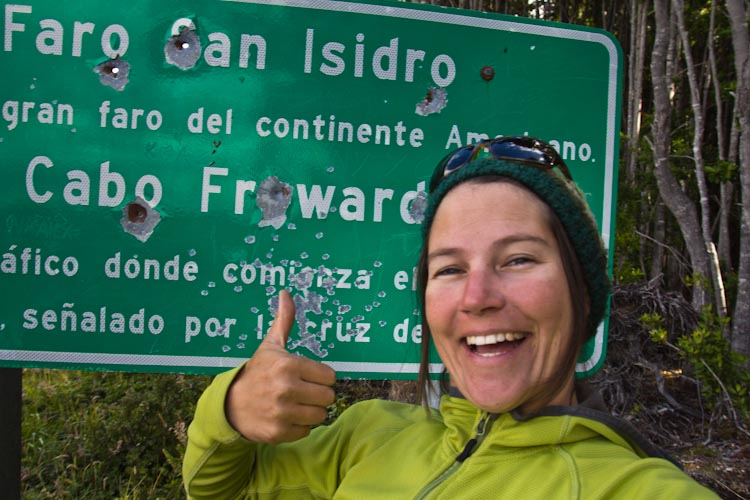 Chile: Ruta 9 - Faro san Isidro:  most southern point