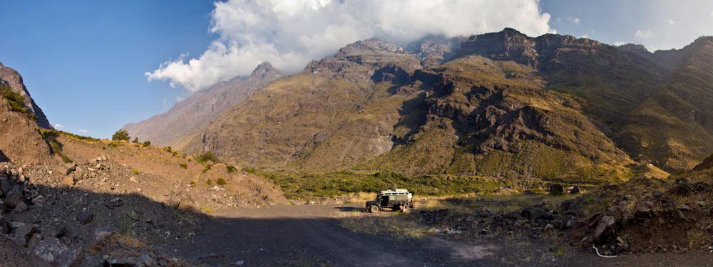 Chile: nice Campspot directly behind the border