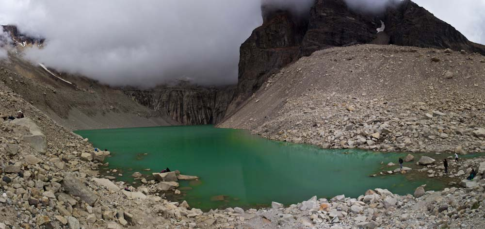 Chile: NP Torres del Paine - Lagoon at Mirador Torres
