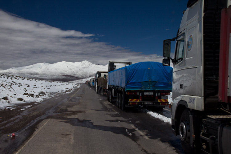 Chile: border to Bolivia - truck driver need to be patient