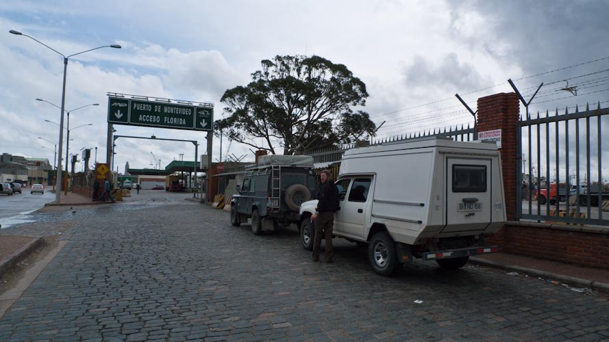 Uruguay: Montevideo - wating to enter the port