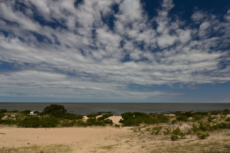 Uruguay: Punta Espinillo - our beach view