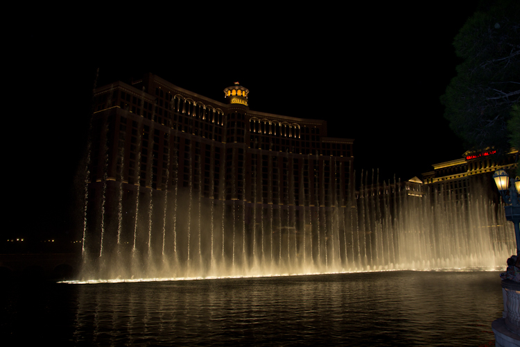 Famous Bellagio Fountain Show